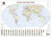 Mapa do Mundo plastificado 80x111 cm (32171)